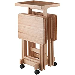 Winsome Wood 42820 Isabelle 6 Piece Snack Table Set, Natural