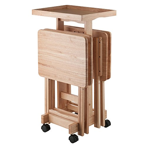 Manhattan Wood Tv Stand - Winsome Wood 42820 Isabelle 6 Piece Snack Table Set, Natural
