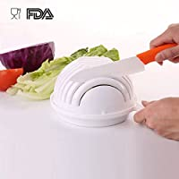 Elovtop Home Healthy Salad Cutter Bowl Fresh Vegetable fruit Maker Strainer chopper For Women's Gift