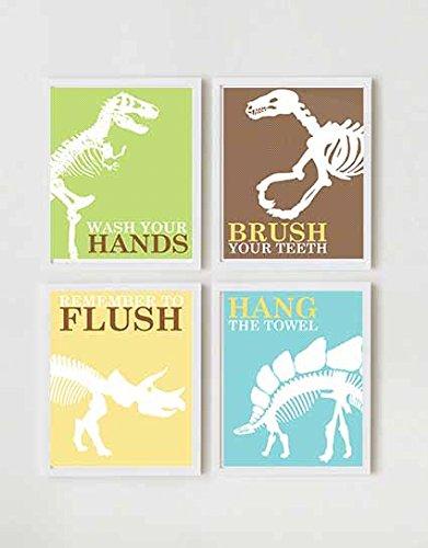 Dinosaur hand towel