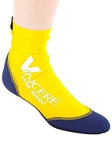 Vincere Arena calcetines para Soccer, Medio de arena de voleibol de playa de esnórquel, Amarillo y Azul, tamaño: medio Color: Amarillo y Azul, Modelo:, hardware Tools & Store