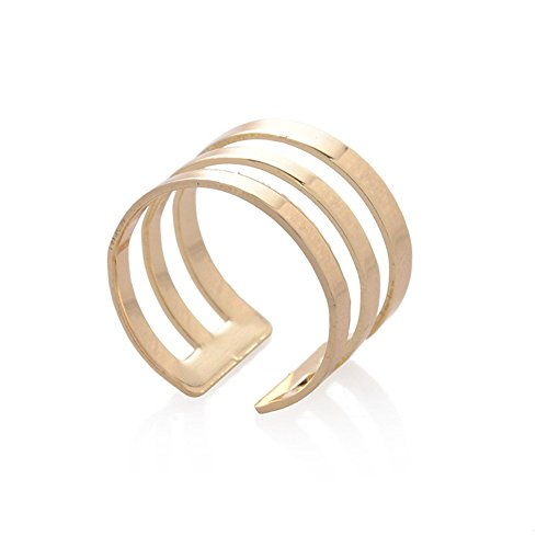 CHUYUN Fashion Multi Layers Cross Rings Multi-color 3-cycles Ring Sets Female Women Adjustable Jewelry Gift Elegant Finger Rings (gold) - Multi Color Cross Ring