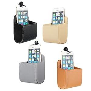 Car Storage Supplies - Car Accessories Air Pu Box Organizer Phone Pocket Pouch Vehicle Bag Holder - Vent Pocket Auto Sunglass Holder Phone Pouch Cell Organizer - For Car - 1PCs