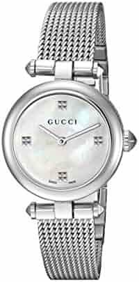 Gucci Swiss Quartz Stainless Steel Dress Silver-Toned Women's Watch(Model: YA141504)
