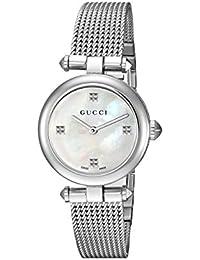 Swiss Quartz Stainless Steel Dress Silver-Toned Women's Watch(Model: YA141504)