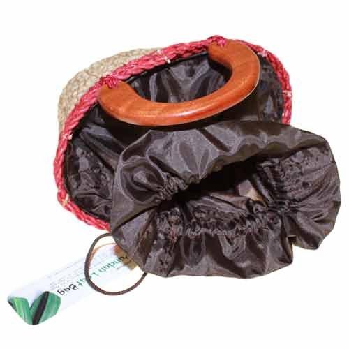 Pequeño juego de hojas de embrague bolsa, beige/marrón, small beige/marrón