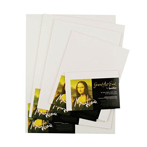 Speedball Mona Lisa 14-Inch-by-18-Inch Gessoed Art Board 10309