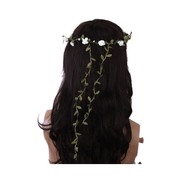 ReNext-Rose-Flowers-Branch-Festival-Wedding-Garland-Head-Wreath-Crown-Floral-Halo-Headpiece-Photography-Tool-Adult-Size-White-and-Green