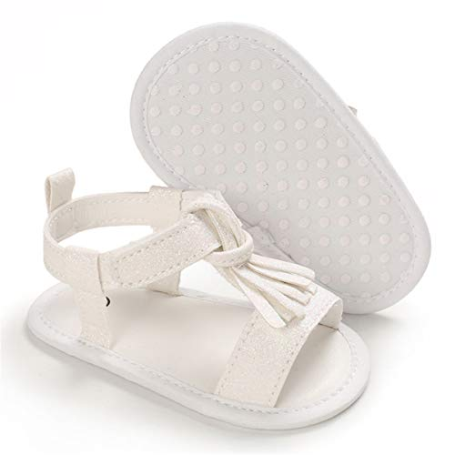 BENHERO Infant Baby Girls Summer Sandals with Bownot Soft Sole Non-Slip Newborn Toddler First Walker Crib Shoes