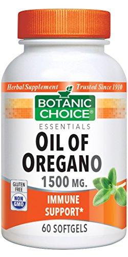 Botanic Choice Oil of Oregano 1500 mg. 60 Softgels Bottle