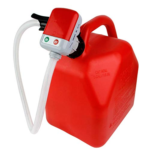 Vent Manual Gas - TERAPUMP 3rd Gen - No More Gas Can Lifting/Fuel Transfer Pump Fitting numerous Gas Cans (Advanced Auto-Stop Function and Flexible in and Out Take Hose)