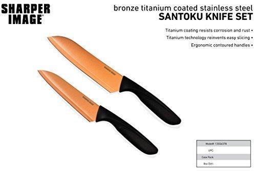 The Sharper Image Essential Copper Santoku Knife Set 6 7