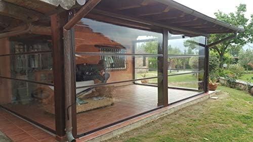 Cortina invernal de PVC, transparente, impermeable y ...