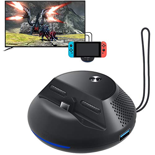 StarPlayer Nintendo Switch Dock Docking Station for HDMI Dock with 3 USB Ports, 1080P HDMI, 1 Type C Support TV Mode and Tablet Mode