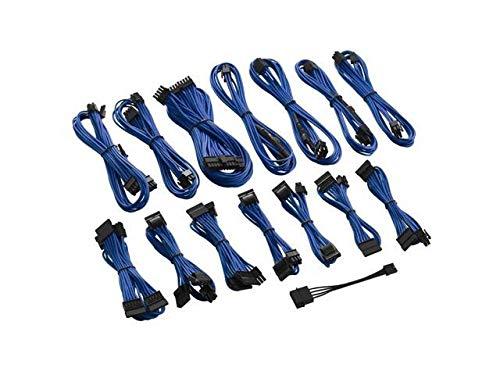 CableMod C-Series ModFlex Cable Kit for Corsair RMi/RMX/RM (Black Label) - Blue [cm-CSR-FKIT-KB-R] by CableMod