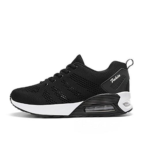 Asfalto Montaña Zapatos EN Zapatillas Negro Mujer Deportes Libre Correr Para Para y Running de Aire YORWOR Padel y YFnSpqSxW