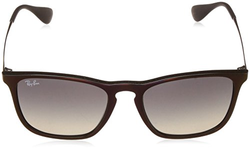 Ray-Ban Mens Chris Square Sunglasses, Black SP Red, 54 mm
