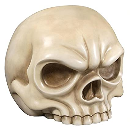 Design Toscano NE1702056 Lost Souls Gothic Skull Sculptural Chair, Bone