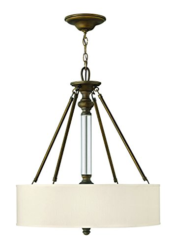 Hinkley 4794EZ Transitional Three Light Inverted Pendant from Sussex collection in - Entrance Bronze English