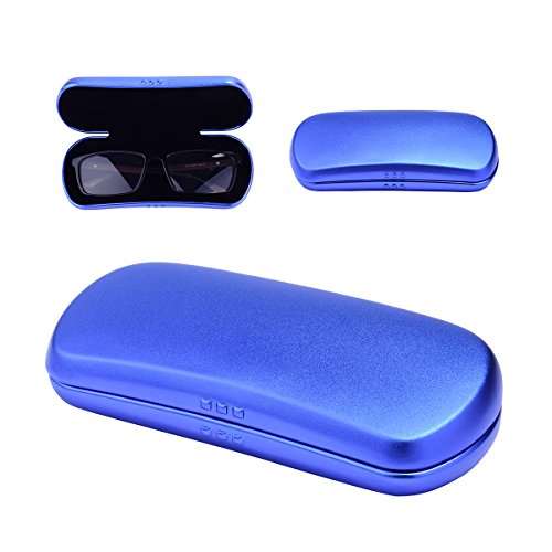 Philley Aluminum Ultra-Light Frosted Eyeglasses Glasses Case (Blue)