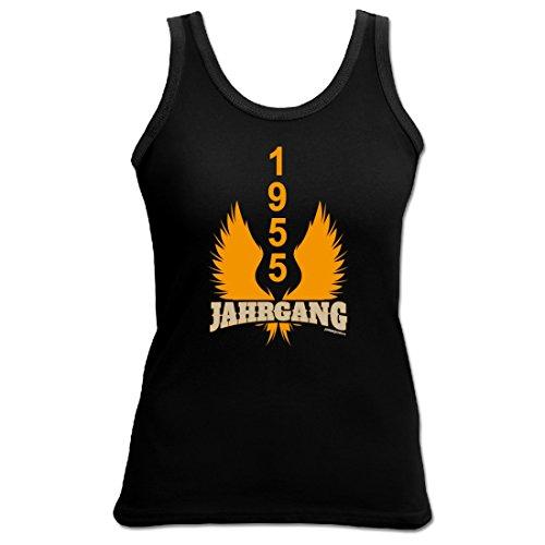 Birthday Shirt - Jahrgang 1955 - Lustiges Damen-Top als Geschenk zum Geburtstag - Schwarz