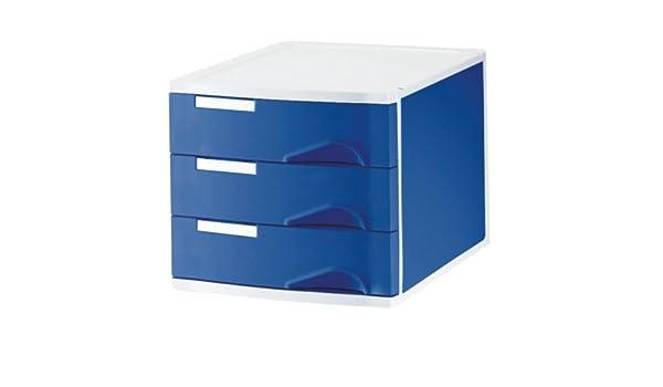 Leitz 52860035 - Bandejas clasificadoras (3 compartimentos), color azul: Amazon.es: Oficina y papelería