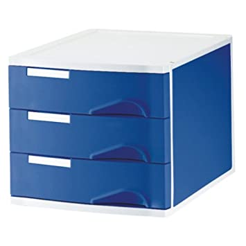 Leitz 52860035 - Bandejas clasificadoras (3 compartimentos), color azul