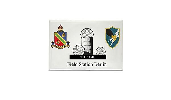 CafePress – Estación de campo Berlin (asa/dliwc) Imán para Frigorífico – Rectángulo Imán: Amazon.es: Hogar
