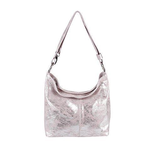 OBC Only-Beautiful-Couture - Bolso de asas de Piel para mujer Rosa-Silber