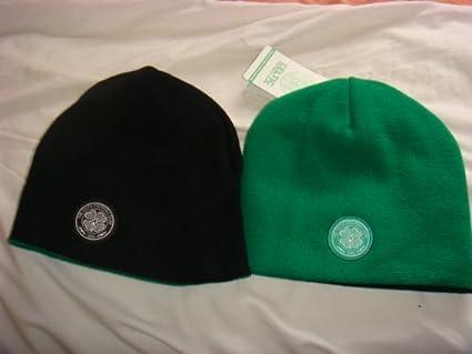 Offizielle Celtic Glasgow FC reversible Beanie gr/ün und schwarz