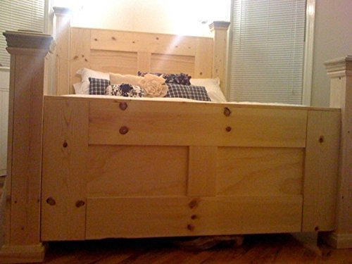 Custom built solid wood bed