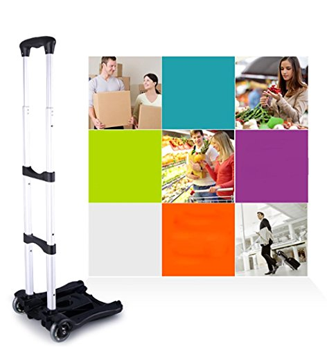 3898ff6e4d51 HCC& Dolly Luggage Cart Heavy Duty Folding Non-slip handle adjustable Lever  Hand Truck Multifunction Portable Shopping cart Load-bearing: 80kg