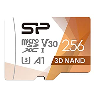 Silicon Power U3 256GB Micro SD Card Nintendo-Switch Compatible, SDXC microsdxc Class 10 High Speed MicroSD Memory Card with Adapter
