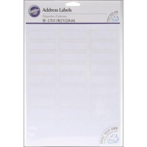 Wilton 90-Pack Address Labels, White (Wilton Napkins)