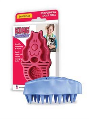 KONG ZoomGroom, Dog Grooming Brush, Small, Raspberry, My Pet Supplies