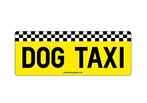 Dog Taxi rectangle magnet