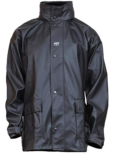 Helly Hansen Work Wear Men's Workwear Impertech Deluxe Rain and Fishing Jacket, Black, L
