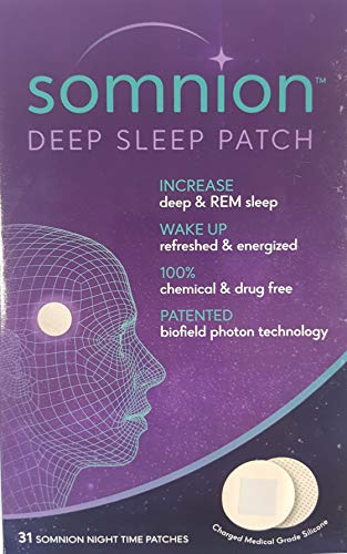 31 Day Supply (Somnion Deep Sleep Patch, Increase Deep and REM Sleep, Patented Biofield Photon Technology, No Drugs or Chemicals, 31 Day Supply)