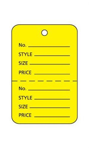 Lot of 1000 New Retails Small Yellow Unstrung Coupon Price Tags 1Â ¼ 'W x 1?â € H