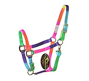 Southwestern Equine Rainbow Halter and Lead Horse Size Adjustable Nose Clip Jaw Side - By