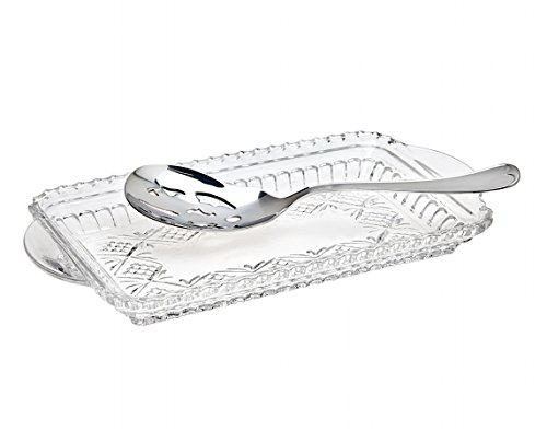 (Dublin Collection Crystal Relish Tray With Server)