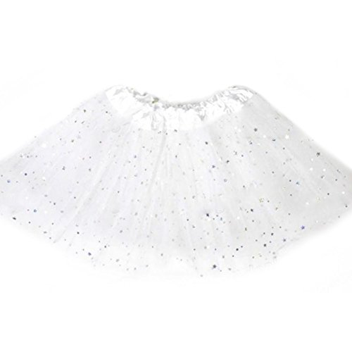 Smart Baby Girl Clothes Stars Sequins Mini Dress Ballet Dance Fluffy Tutu Skirt Red (Skirt Star Mini Big)