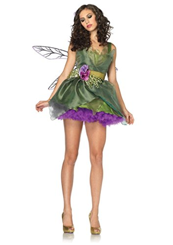 3 PC. Ladies Woodland Fairy Dress Set - Large - Green (Woodland Fairy Costumes For Adults)