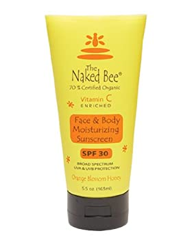 The Naked Bee Vitmin C Moisturizing Sunscreen SPF 30, 5.5 oz (163 ml.)