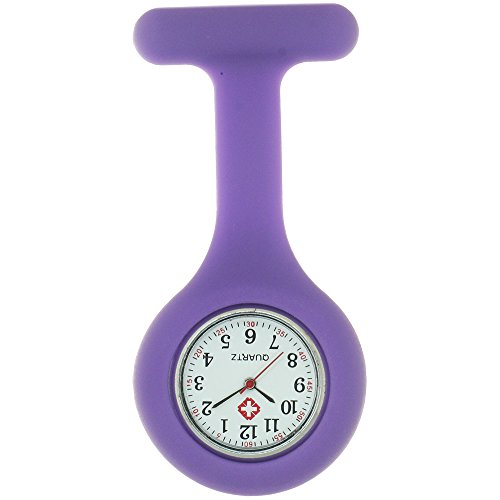 Unisex Nurse Watch Silicone Round Clip-on Fob Brooch Watch Personalised Nurse Watches for Women Mens