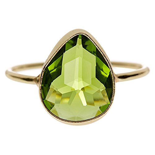 Gemaholique Pear Shape Peridot Quartz Wholesale Gemstone Jewelry Ring (Size 5) price tips cheap