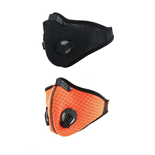 Ligart Dust Mask with Activated Carbon mask filter Dustproof Mask Mesh Cover Mask Filtration Exhaust Gas Anti Pollen Allergy PM2.5 Air Filter Mask for Running Cycling and Other Outdoor ()