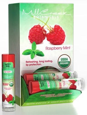 Mill Creek Lip Balm Raspberry Mint USDA Organic - 0.15oz / (Best Mill Creek Lip Balms)