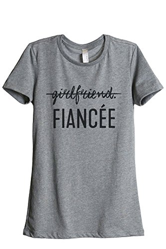 Thread Tank Girlfriend Fiancee Women's Fashion Relaxed T-Shirt Tee Heather Grey Small - Girlfriends Plus Size T-shirt