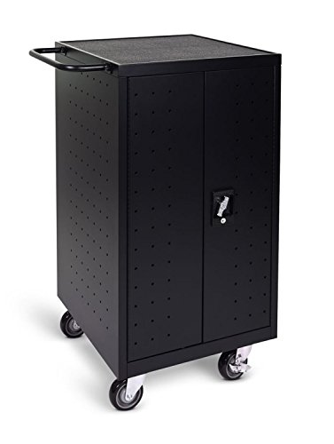 LUXOR LLTP18-B Laptop Computer Charging Cart, 18